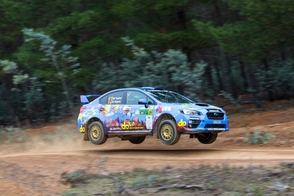 Subaru do motorsport driver Molly Taylor and co-driver Bill Hayes in action at the 2016 National Capital Rally.