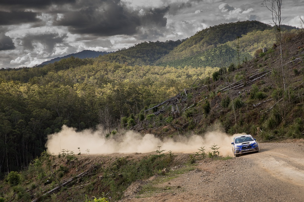 Subaru do Motorsport driver Molly Taylor and co-driver Bill Hayes in action at the 2016 APRC International Rally of Queensland